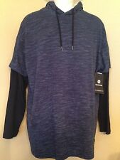 Akedimics B&T Men's Elite 2-Fer Navy Hoodie 3XL, XXXL