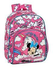Disney MINNIE MOUSE Rucksack Pink School Backpack Bag UNICORNS Backpack 34cm