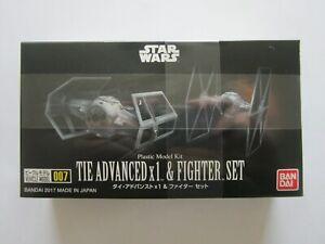 NEW SEALED Bandai Tie Advanced x1 & Fighter Set Plastic Model Kit Star Wars