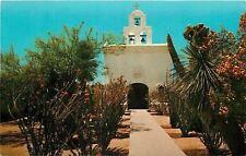 Tuscon Arizona~Mortuary Chapel and Cactus Garden Mission~1960s Postcard