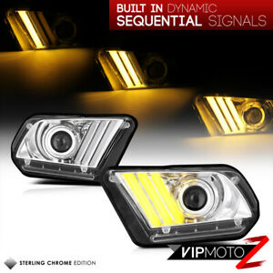 6th Gen Style! Ford 10-14 MUSTANG Séquentiel LED DRL Tube Projecteur Phare Avant