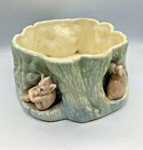Vintage Sylvac Bulb Bowl with Rabbit & Gnome Reg No1513 Planter Elves Pixie1950s