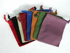 "Lot of 8 Small Multiple Color RPG Dice Bags 3 x 4"" Velveteen Cloth New DnD Pouch"