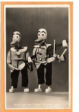 Real Photo Postcard RPPC - Two Duck Marionette Dilly & Dally at Puppet-Land