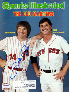 Pete Rose Autographed Signed Sports Illustrated Magazine Phillies PSA/DNA X65055
