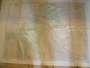1960's NAUTICAL CHART,FEDERAL REPUBLIC OF GERMANY,NORTH SEA CHART 4836