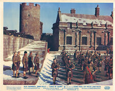 Tunes of Glory original lobby card Alec Guinness and men on parade in kilts