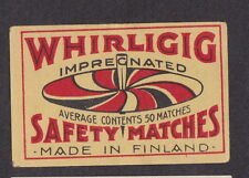 Ancienne étiquette  Allumettes Finlande  BN12734 Whirligig