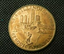 1968 ILLINOIS SESQUICENTENNIAL 150 YEARS SEAL OF ILLIONOIS MEDAL!  e1296DHQ