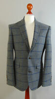 VIYELLA Mens Grey Overcheck Wool Vintage Tweed Suit Jacket Blazer NEW 40R