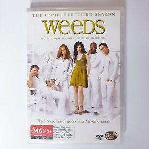 Weeds Season 3 TV Series DVD Region 4 AUS Free Postage Comedy