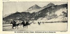 Ein interssantes sportliches Ereignis Pferderennen auf dem St.- Morizer-See 1913