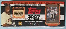 2007 TOPPS BASEBALL SEALED HOBBY SET - BONDS RELIC - 10 ROOKIE VARIATION CARDS