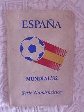 MONDIALI CALCIO SPAGNA 1982 ESPANA '82 RARO ASTUCCIO MONETE MUNDIAL NUMISMATICA