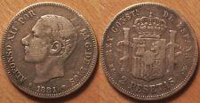Espagne, 2 Pesetas argent 1881 !!