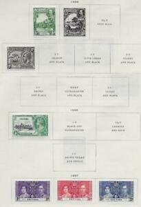 6 Grenada Stamps from Quality Old Antique Album 1934-1937