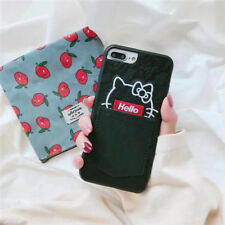 Trend Cartoon Cute hello kitty pocket Card case Cover for iPhone x 6S 7 8 Plus