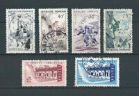 FRANCE - 1956 YT 1072 à 1075 et 1076 à 1077 - TIMBRES OBL. / USED