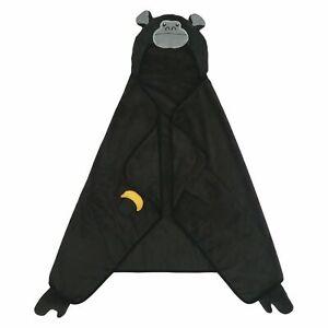 "Kids Pillowfort Gorilla Hooded Towel 30""X50"" Soft Big Comfy Black Pool Beach New"