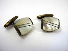 Antique Cufflinks Cuff Links: Mother of Pearl Stunning Design