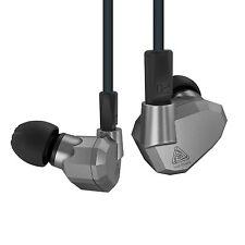 KZ ZS5 2DD+2BA Quad Hybrid Driver In-Ear Earphones Headphones Metallic Grey