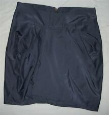 New Wish Woman's Large Solid Gray Cotton Blend Above Knee Pleated Skirt NWT $48