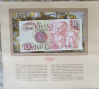 Most Treasured Banknotes Ghana 1978 10 Cedis P-16f UNC Prefix X/1