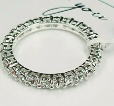Ladies 925 Sterling Silver White Crystal Full Eternity Band Stone Ring Size S