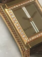 18ct. 18K. 750. Rose Gold, Diamond Authentic Gucci Watch. New In Box