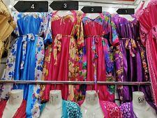 Silk Satin Kimono Robe Dressing Gown Wedding Bridesmaid Sleepwear Bathrobe-NEW