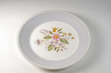 Vintage Scandinavian Figgjo Flint plate in dove grey and white floral design