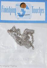 "Selley #1418 Brass Chain 12"" 18 Links Per in. (HO Scale) Light Cast Metal"