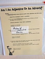 Adjective / Adverb 4-Square Activity Game Grades 2-4 New