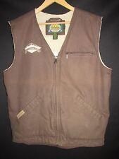 Cabala's Brown Cotton Sherpa Lined Rocky Mountain Masonry Vest  Men's L M7