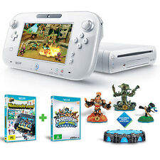 Nintendo Wii U 8GB White + Skylanders + Mario Bros U + Land *NEW* + Warranty