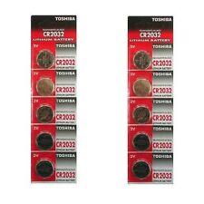 Toshiba CR2016 3V Lithium Battery 2PACK X (5PCS) = 10 Single Use Batteries