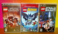 LEGO Pirates Batman Star Wars - Sony PSP Complete Game Lot Playstation Portable