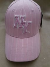 NEW YORK CITY BASEBALL CAP HAT ADJUSTABLE ONE SIZE FITS ALL PINK NWT