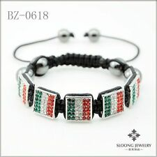 Markenlose Modeschmuck-Armbänder im Shamballa-Stil aus Kristall