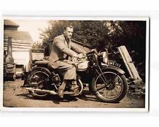 ST1360c: NORTON MOTORCYCLE & RIDER (Vintage RPPC/postcard)