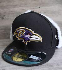Baltimore Ravens Size 7 Cap Ear Warmer Flaps NFL Embroidered Logo Baseball New