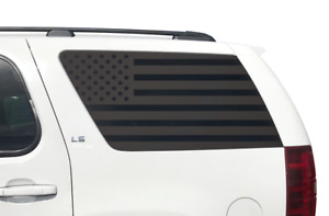 American USA Flag Decals for Rear window 2011-2014 Chevy Tahoe GMC Yukon CT12
