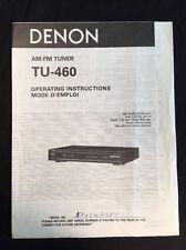Denon TU-460 Tuner Original Owners Manual tu460 A16