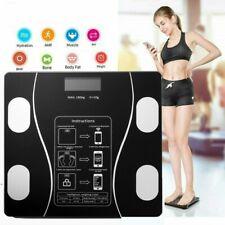 9 in 1 Körperwaage Fitnesswaage Personenwage Gewicht Waage BMI Analyse 180KG USB