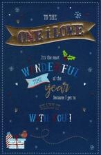 One I Love Traditional Christmas Greeting Card Luxury Embellished Cards
