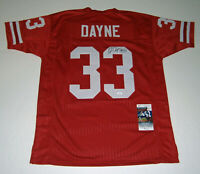 WISCONSIN Ron Dayne signed custom red jersey w/ 99H JSA COA AUTO Autographed