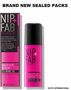 NIP+FAB Salicylic Fix Serum Extreme 2% Acid + Ginseng 50ml NEW & SEALED 50ML
