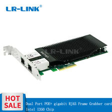 Dual Port POE+ Gigabit Frame Grabber PCI-E video capture Card Intel I350