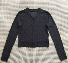🐮 OSFA 8-14 METALICUS Black & Grey Stretchy Long Sleeve Layering Top Jacket!