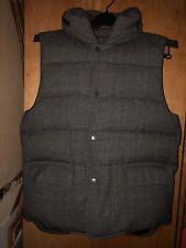 John Varvatos wool Down Vest W/ Hood In Collar Size 48